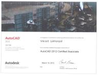 Certified AutoCAD designer.